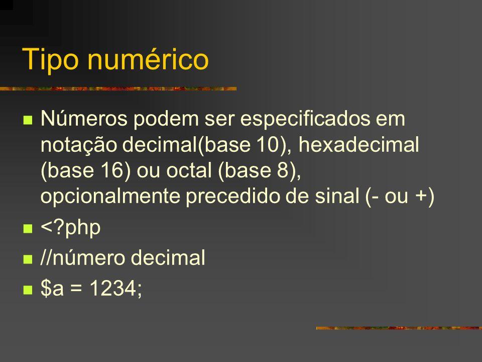 Tipo numérico