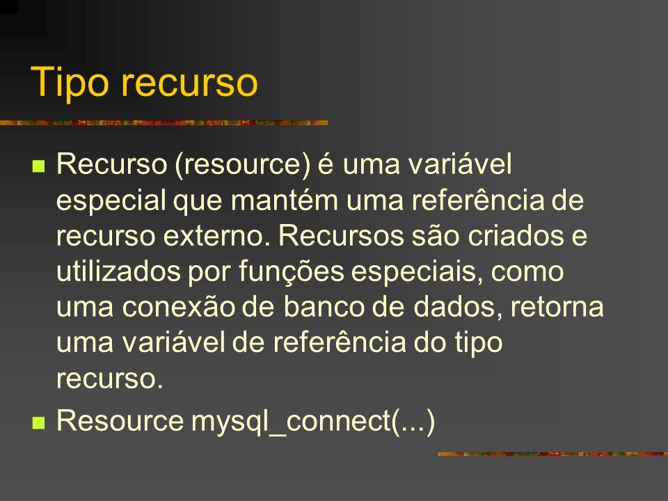 Tipo recurso