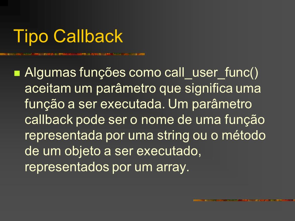 Tipo Callback
