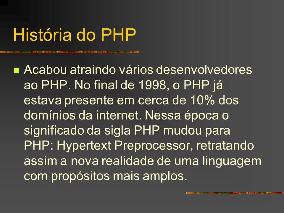 História do PHP