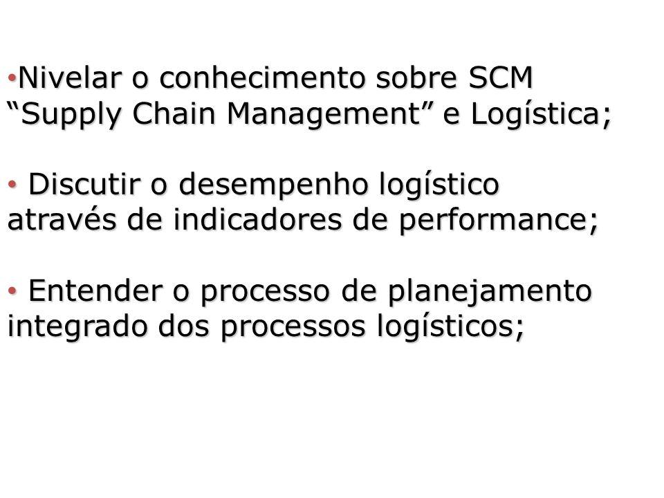 Nivelar o conhecimento sobre SCM Supply Chain Management e Logística;