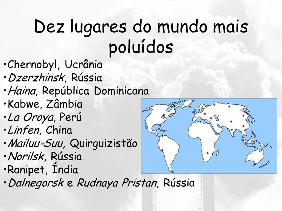 Dez lugares do mundo mais poluídos