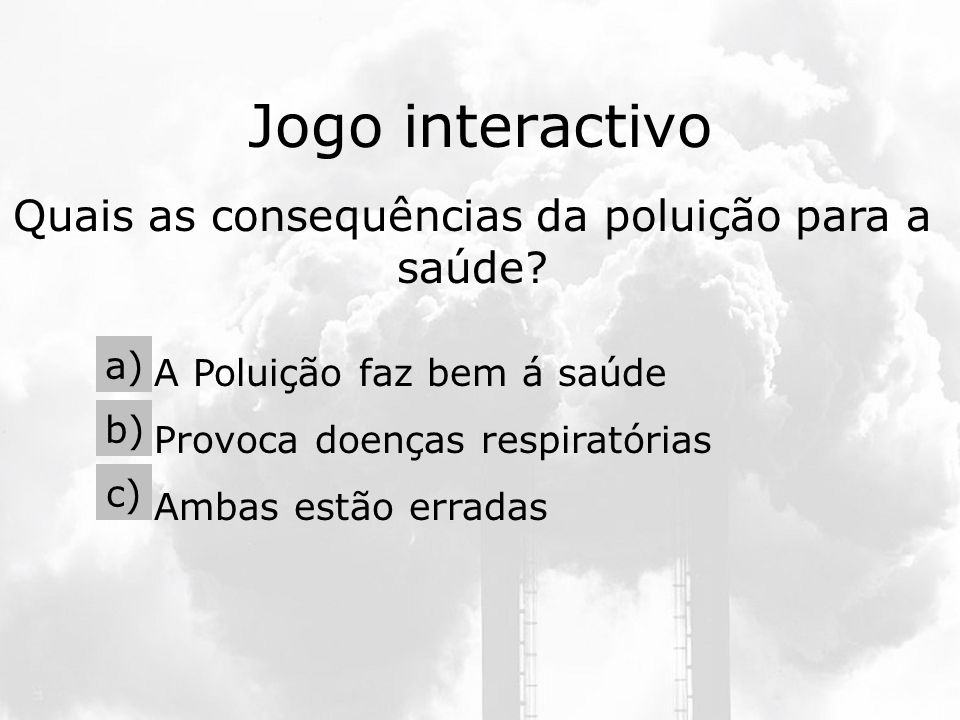 Quais as consequências da poluição para a saúde