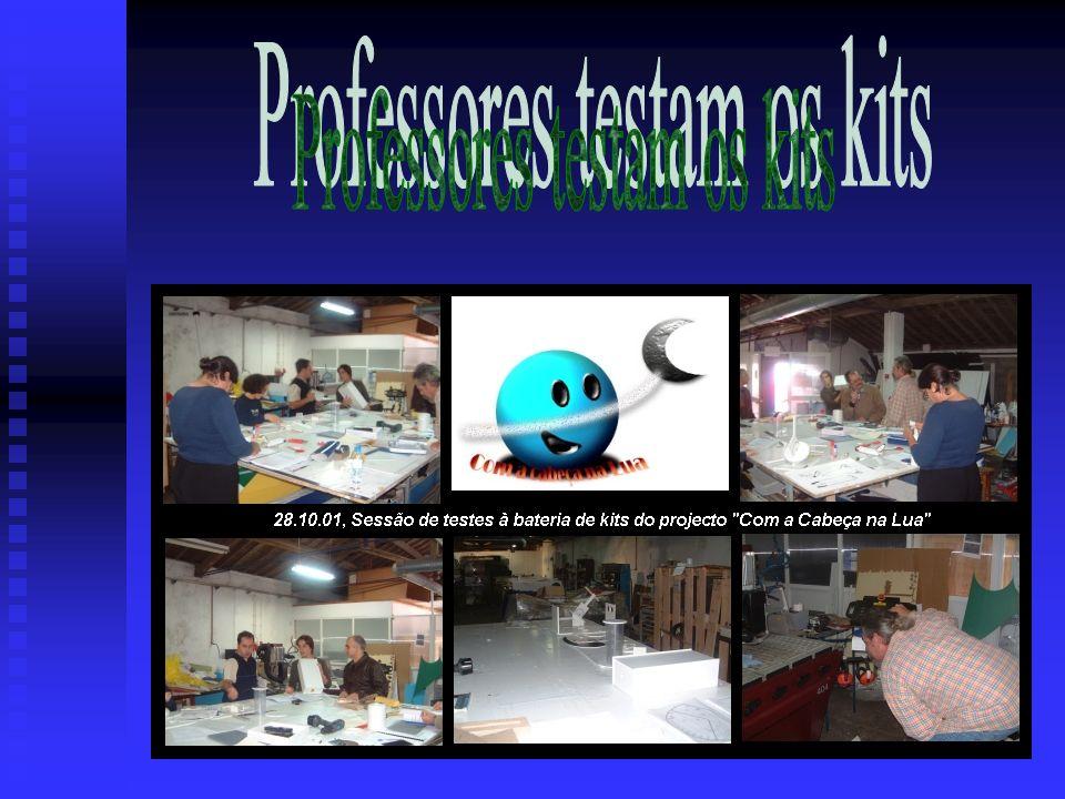 Professores testam os kits