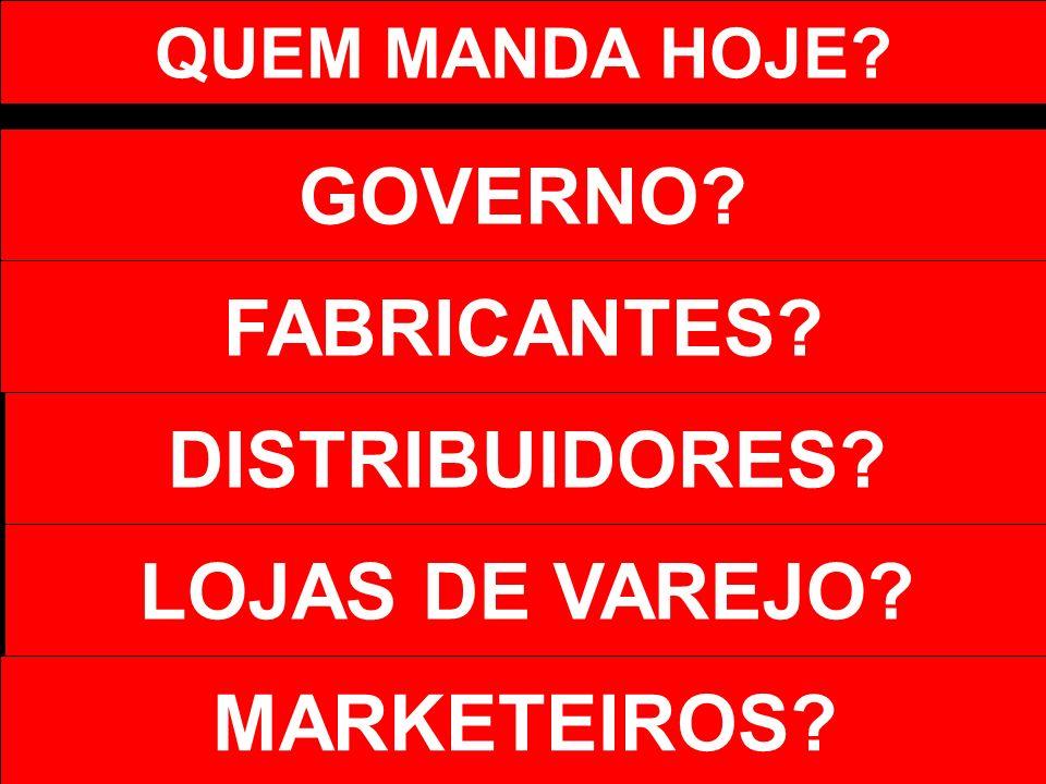 GOVERNO FABRICANTES DISTRIBUIDORES LOJAS DE VAREJO MARKETEIROS