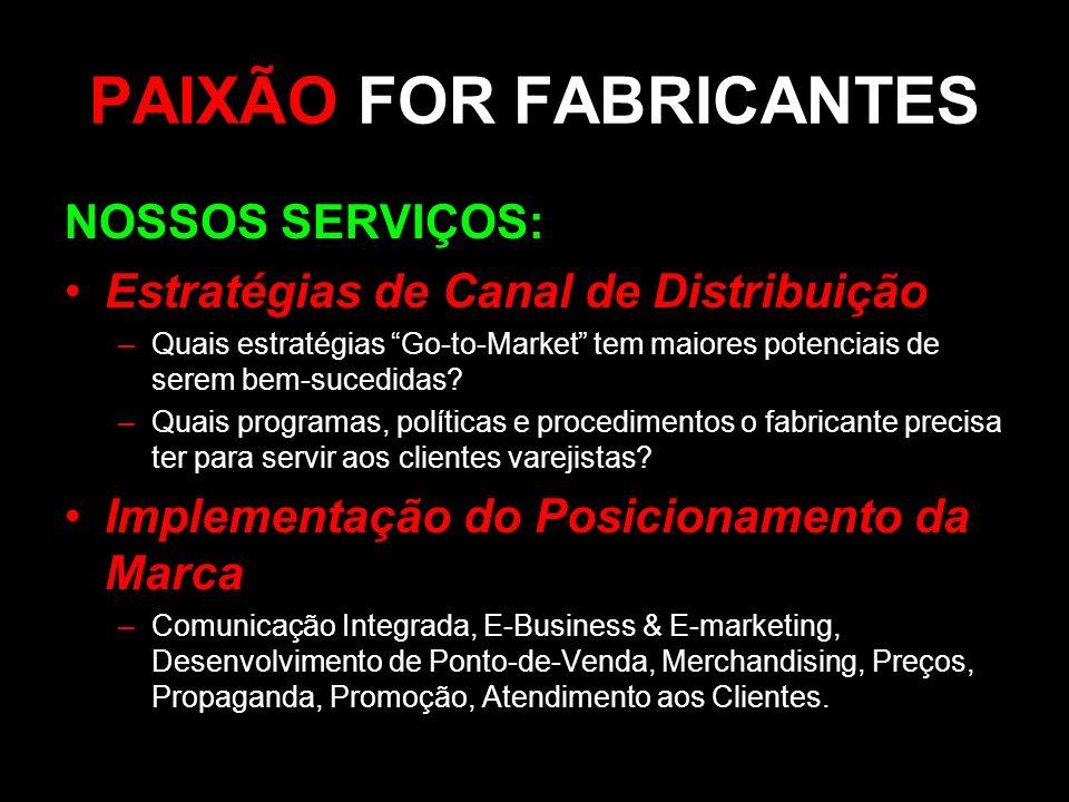 PAIXÃO FOR FABRICANTES
