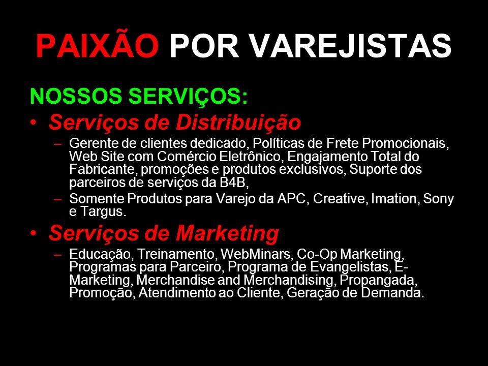 PAIXÃO POR VAREJISTAS NOSSOS SERVIÇOS: Serviços de Distribuição
