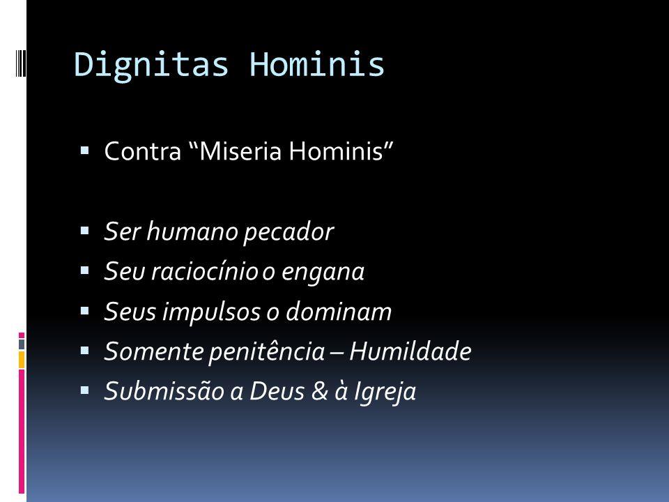 Dignitas Hominis Contra Miseria Hominis Ser humano pecador