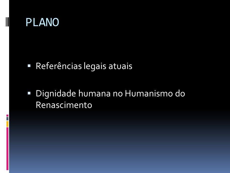 PLANO Referências legais atuais