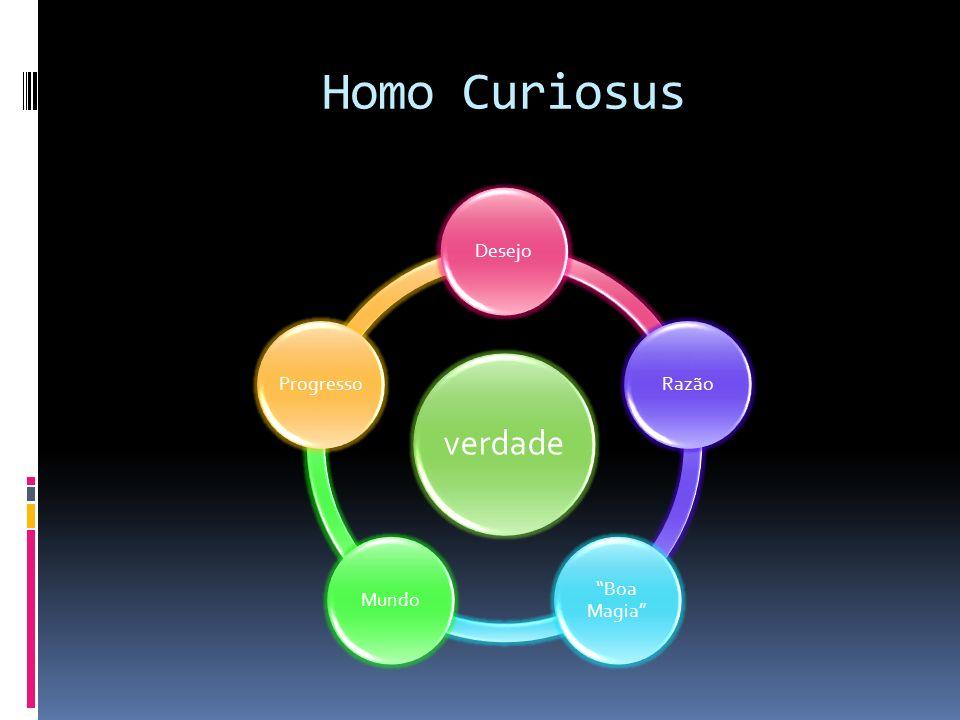 Homo Curiosus verdade Desejo Razão Boa Magia Mundo Progresso