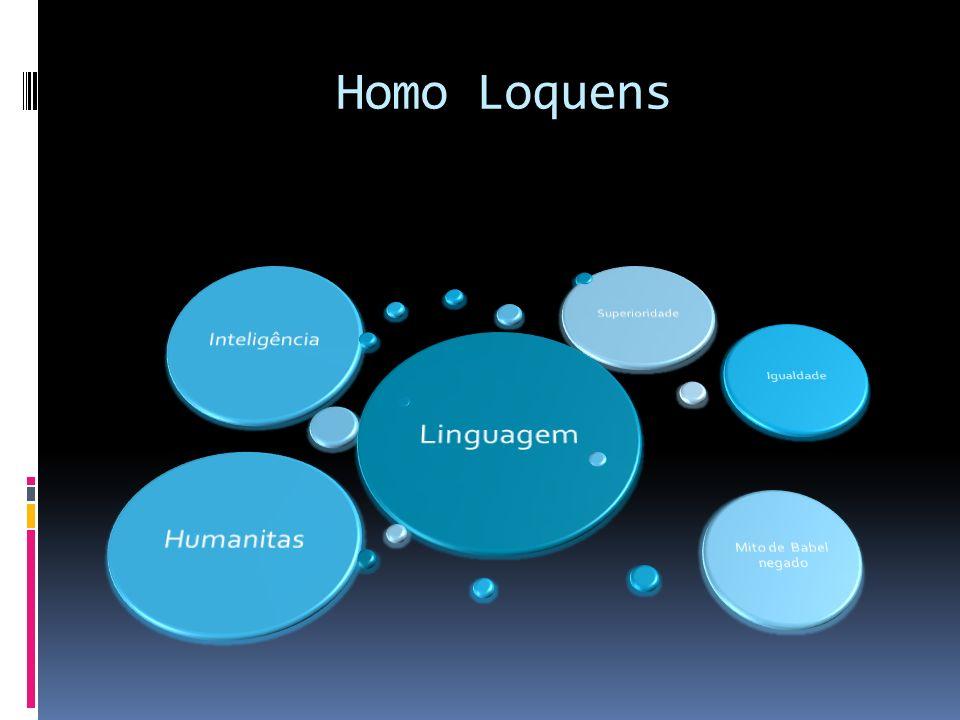 Homo Loquens Linguagem Humanitas Inteligência Superioridade Igualdade