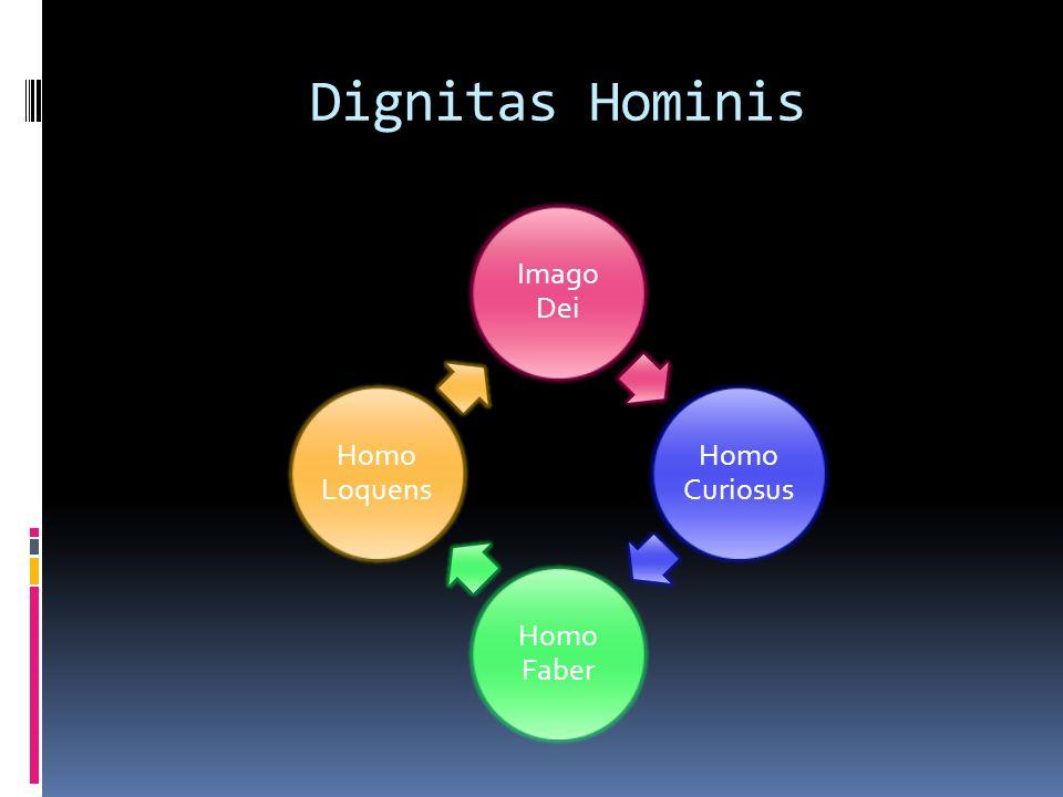 Dignitas Hominis Imago Dei Homo Curiosus Homo Faber Homo Loquens