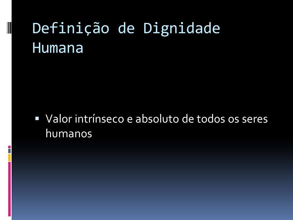 Definição de Dignidade Humana
