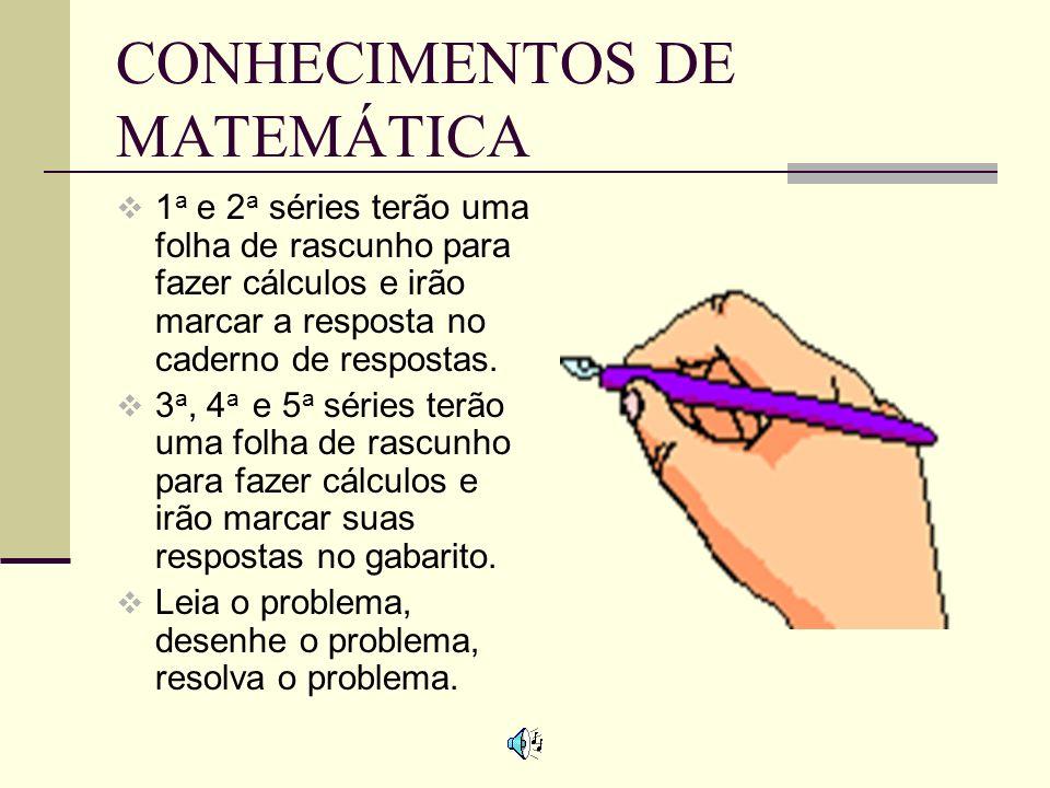 CONHECIMENTOS DE MATEMÁTICA