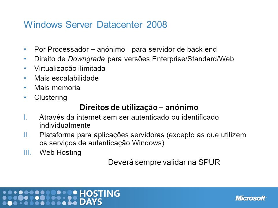 Windows Server Datacenter 2008