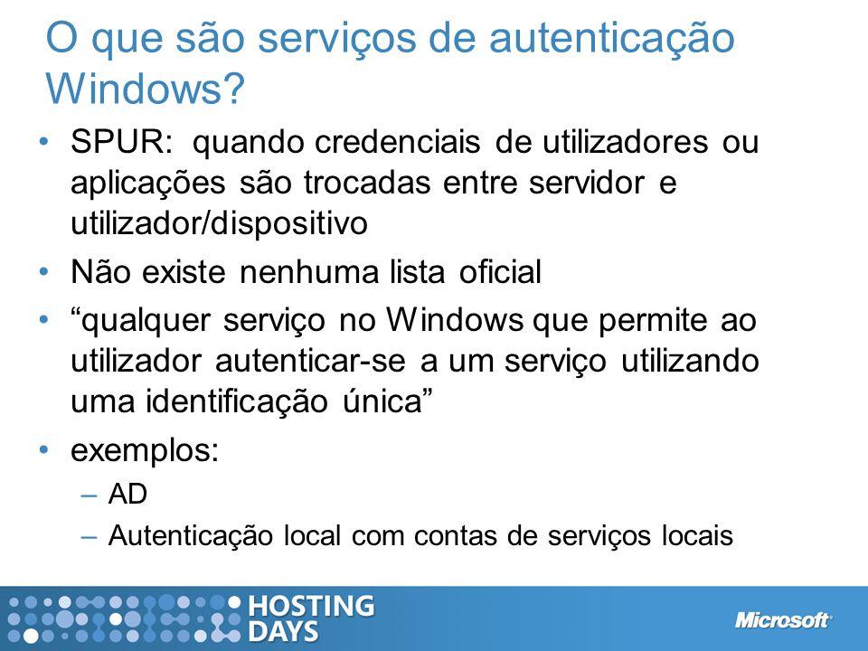 O que são serviços de autenticação Windows