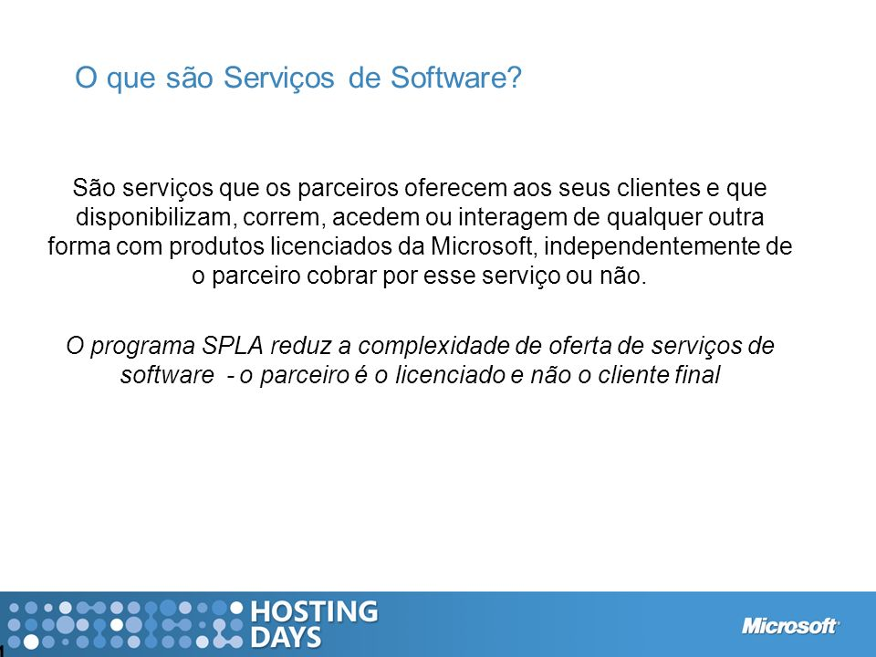 O que são Serviços de Software