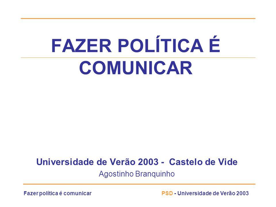 FAZER POLÍTICA É COMUNICAR