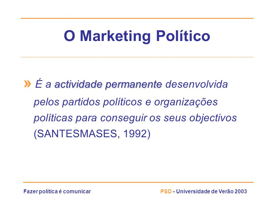 O Marketing Político