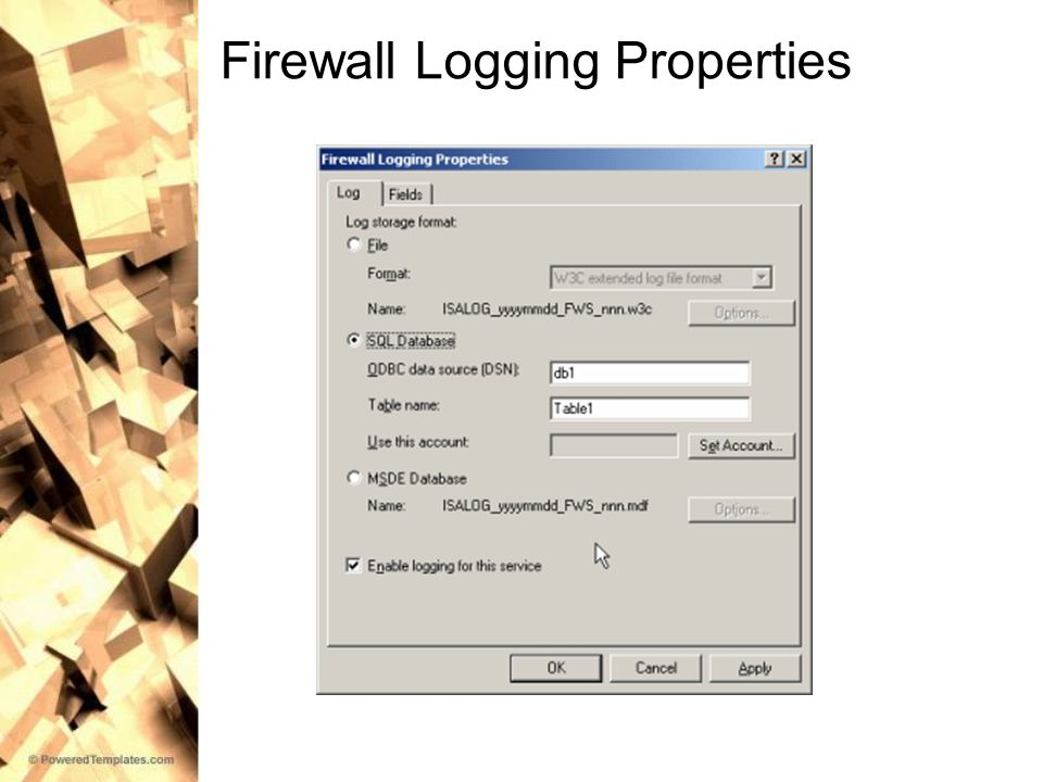 Firewall Logging Properties