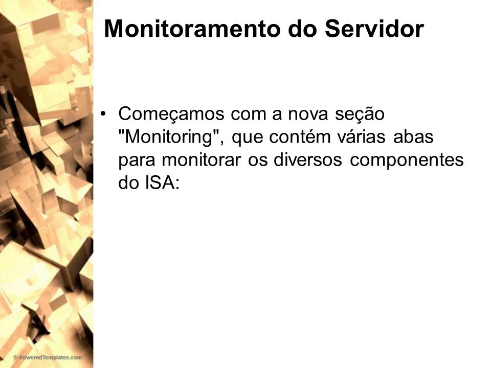 Monitoramento do Servidor