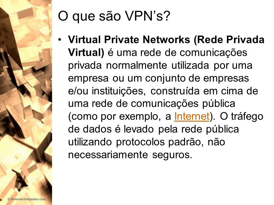 O que são VPN's