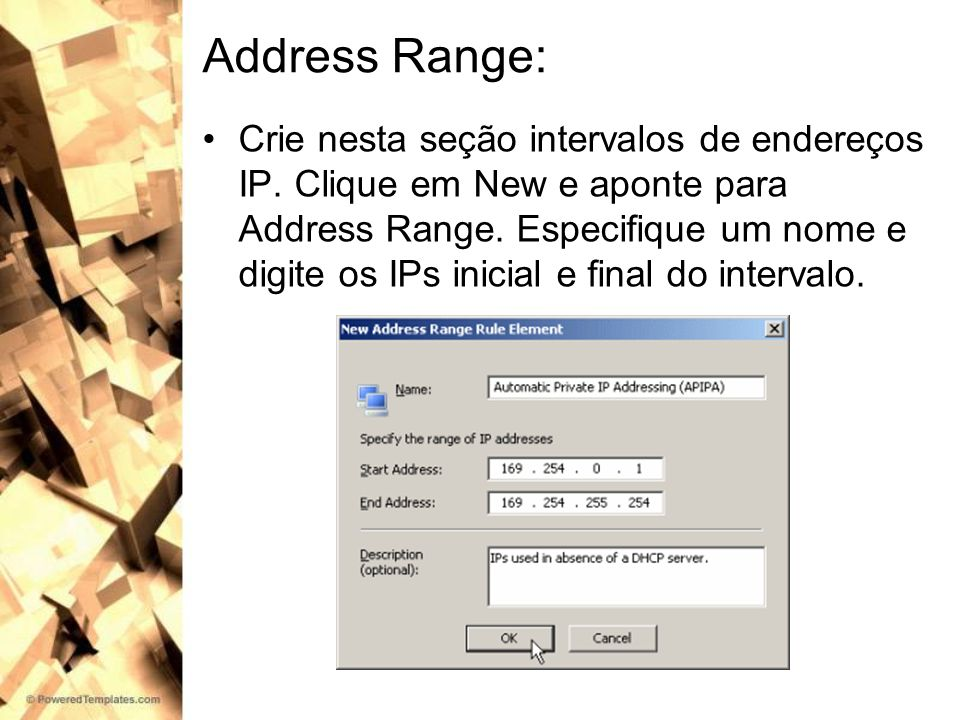 Address Range: