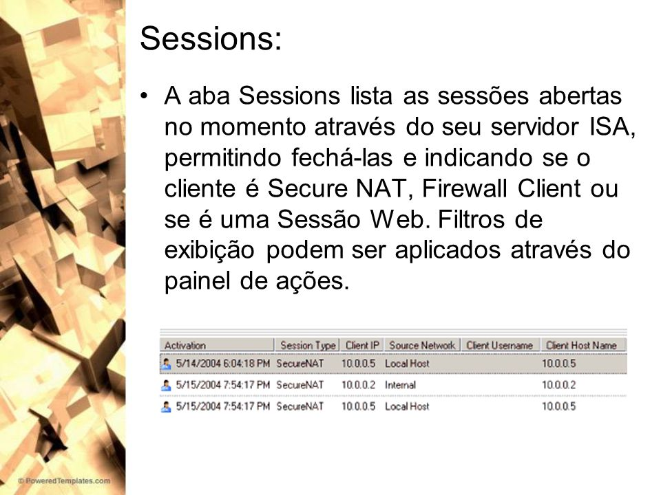 Sessions: