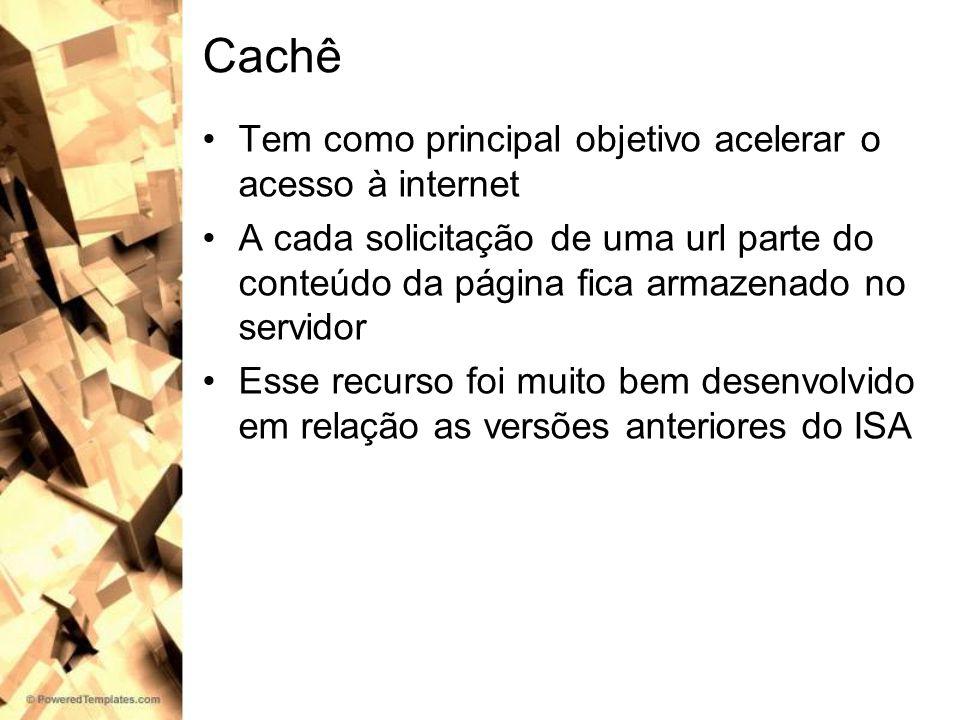 Cachê Tem como principal objetivo acelerar o acesso à internet