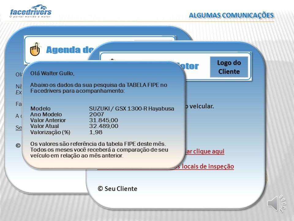 ALGUMAS COMUNICAÇÕES Logo do Cliente Logo do Cliente