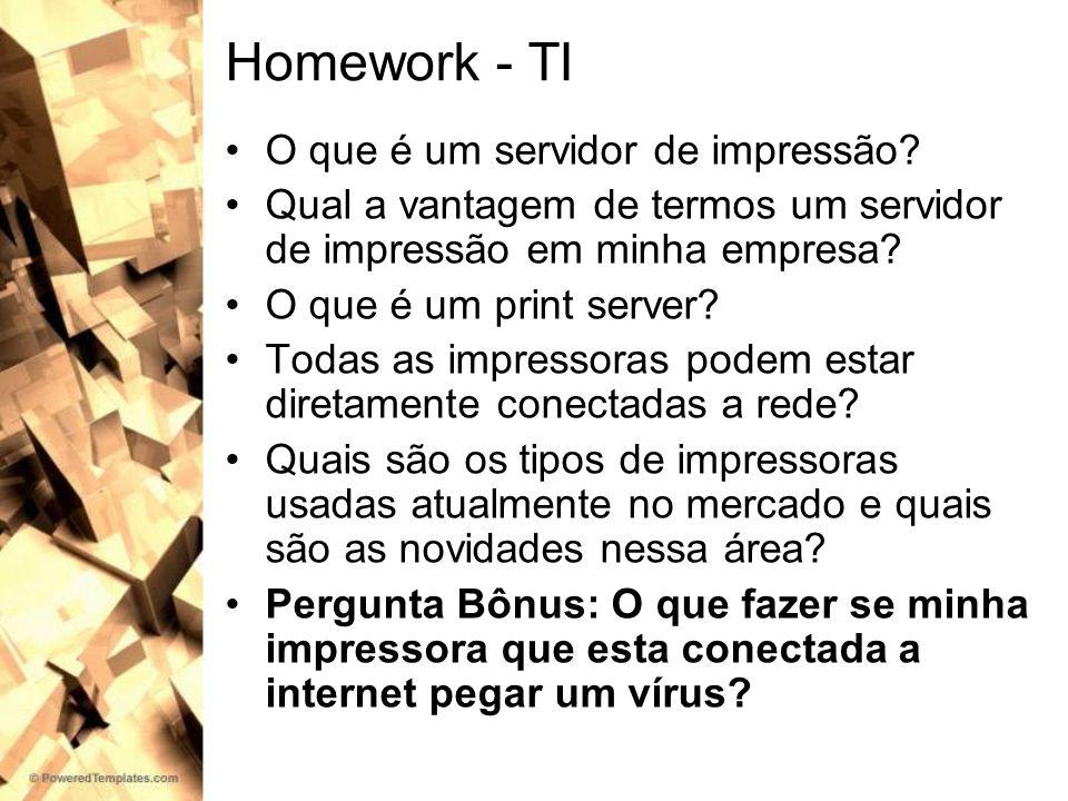 Homework - TI O que é um servidor de impressão