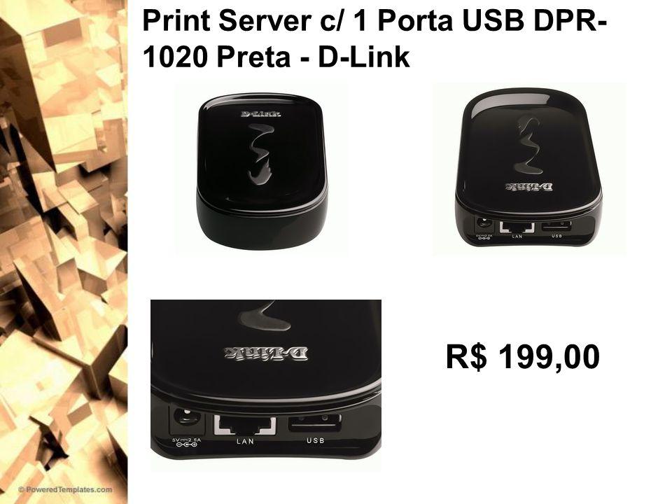 Print Server c/ 1 Porta USB DPR-1020 Preta - D-Link