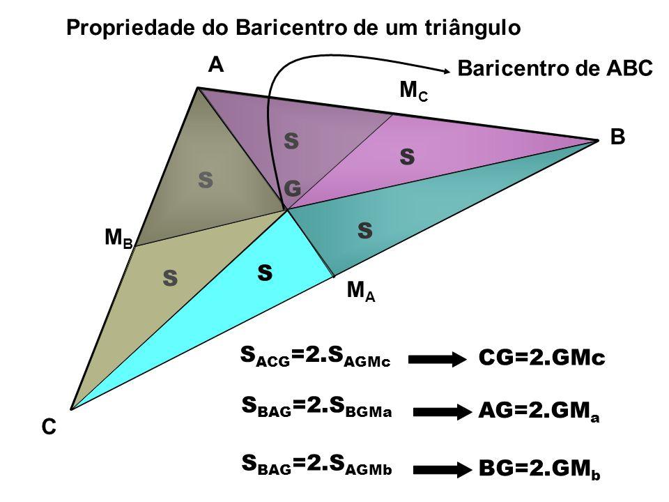 Propriedade do Baricentro de um triângulo