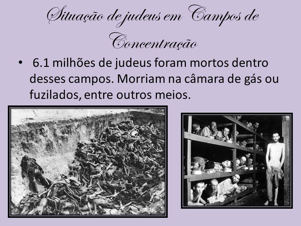 Situação de judeus em Campos de Concentração