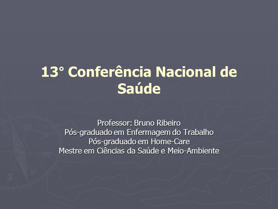 13° Conferência Nacional de Saúde
