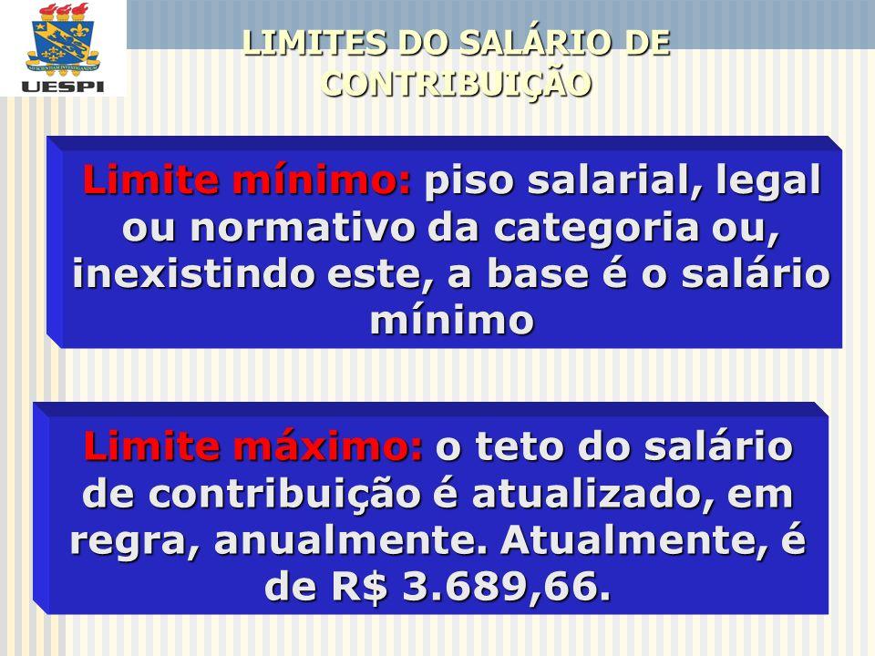 LIMITES DO SALÁRIO DE CONTRIBUIÇÃO