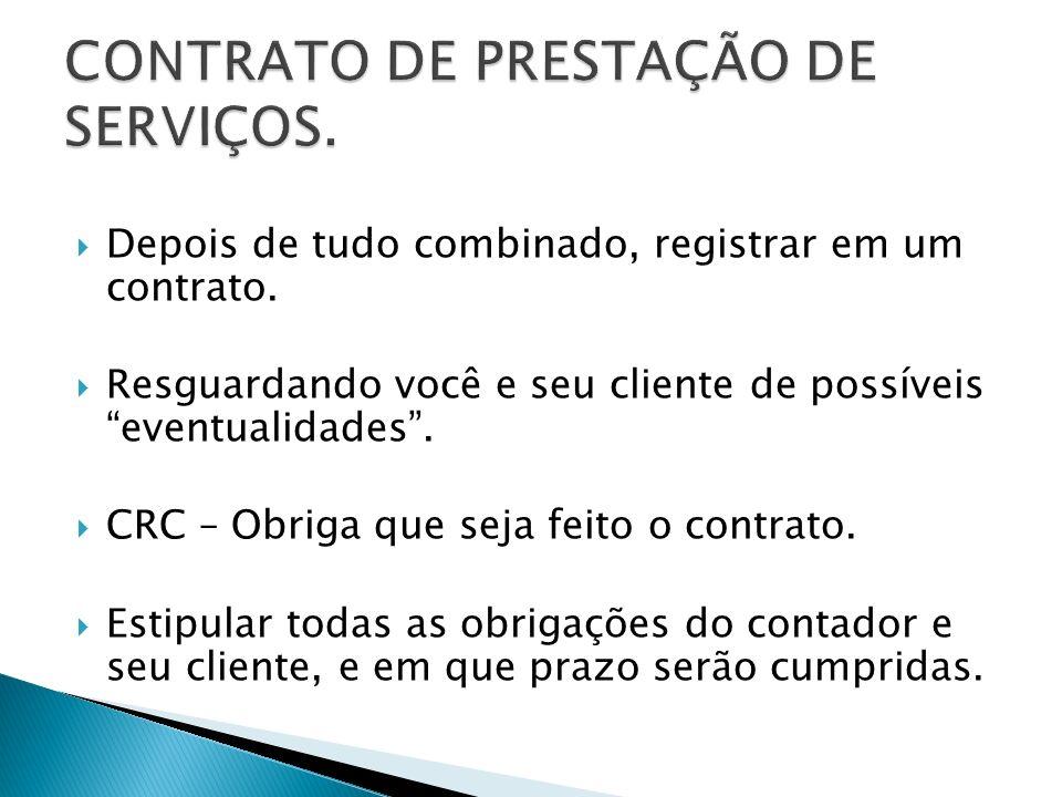 CONTRATO DE PRESTAÇÃO DE SERVIÇOS.