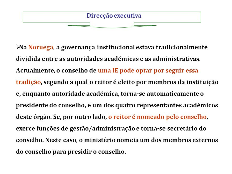Direcção executiva