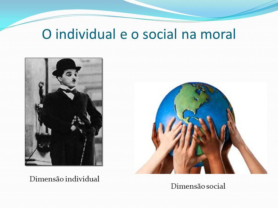 O individual e o social na moral