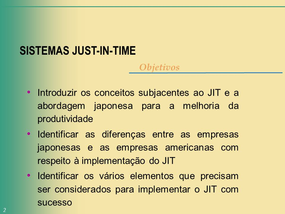 SISTEMAS JUST-IN-TIME