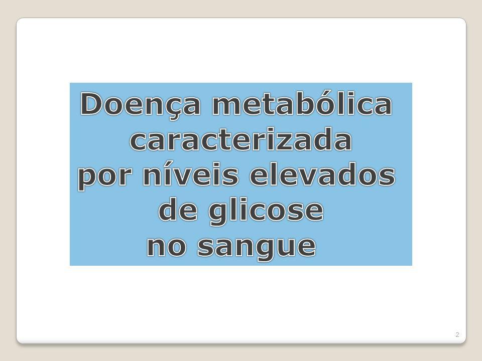 Doença metabólica caracterizada por níveis elevados de glicose no sangue