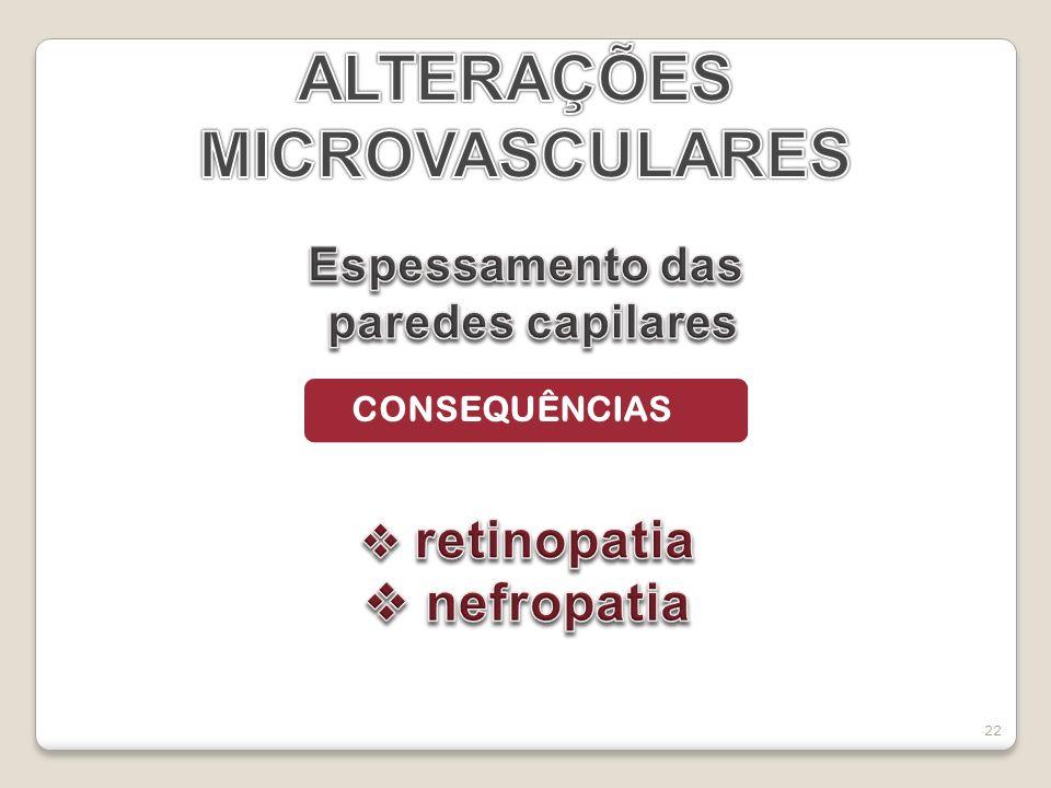 ALTERAÇÕES MICROVASCULARES