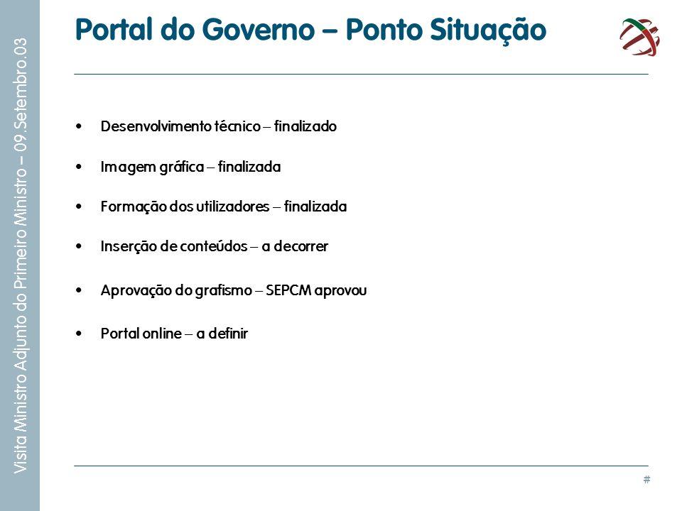 Portal do Governo – Ponto Situação
