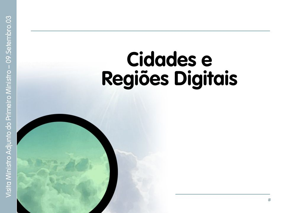 Cidades e Regiões Digitais