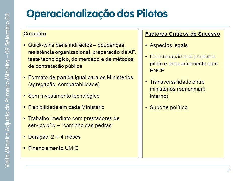 Operacionalização dos Pilotos