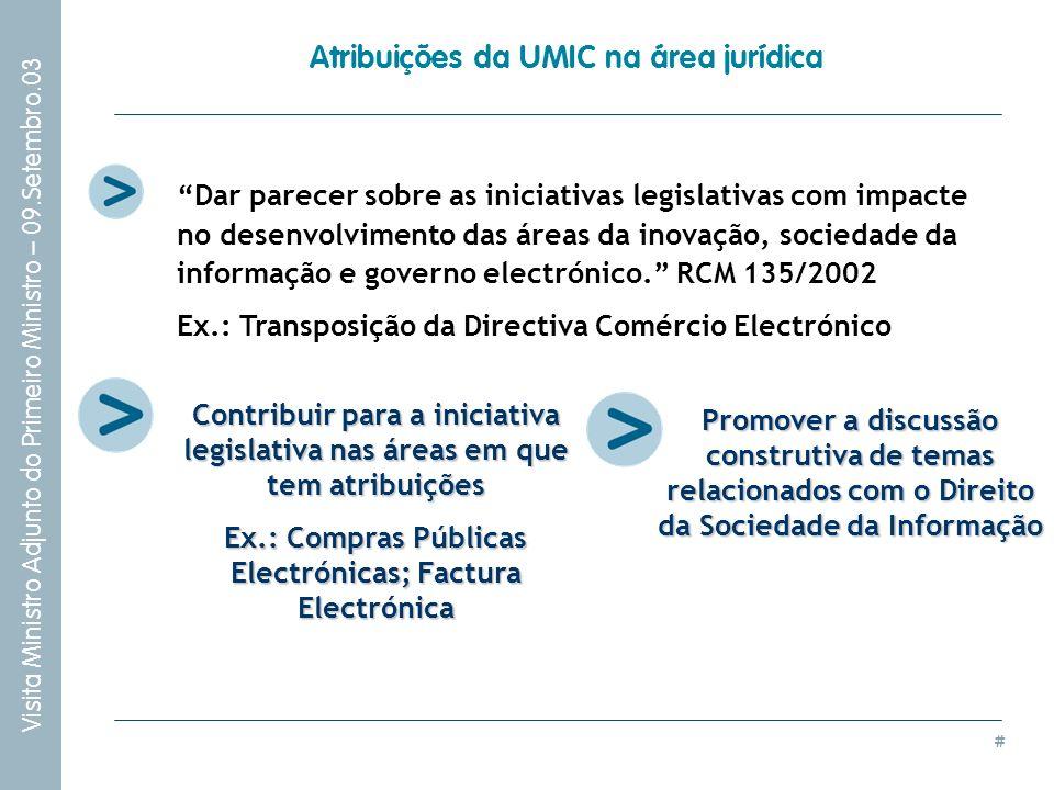 Atribuições da UMIC na área jurídica