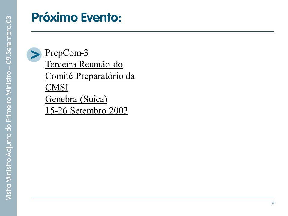 Próximo Evento: PrepCom-3