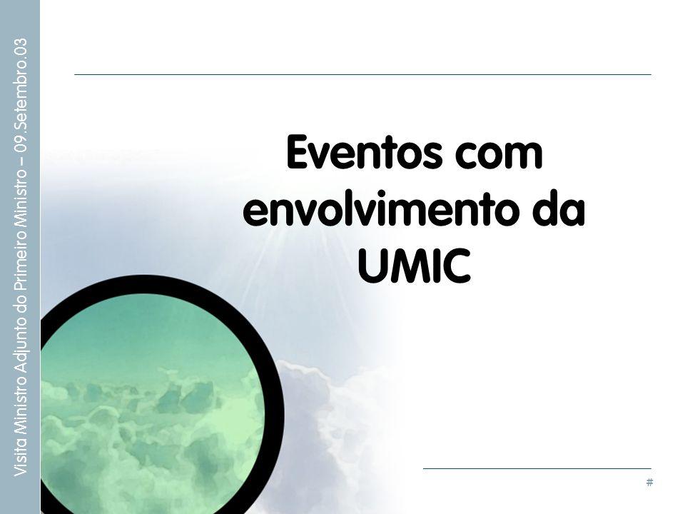 Eventos com envolvimento da UMIC