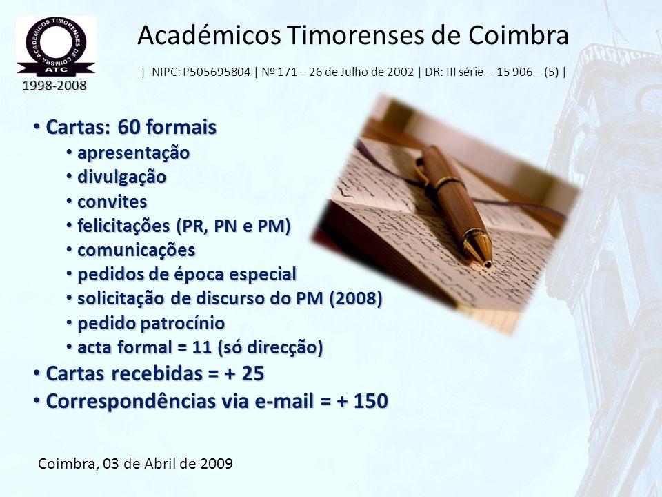Académicos Timorenses de Coimbra | NIPC: P505695804 | Nº 171 – 26 de Julho de 2002 | DR: III série – 15 906 – (5) |
