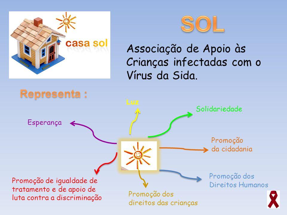 SOL Associação de Apoio às Crianças infectadas com o Vírus da Sida.